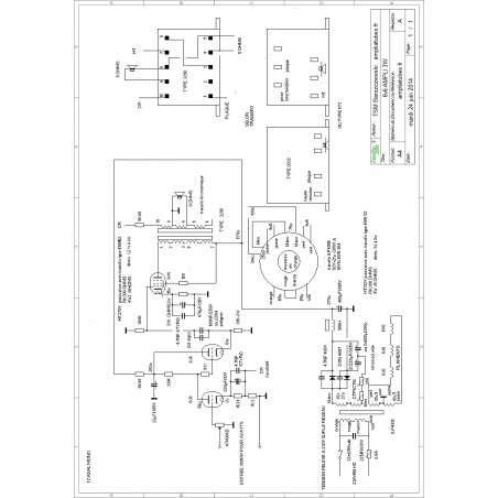 Shéma ampli à tubes classe A 6V6 - 3watts