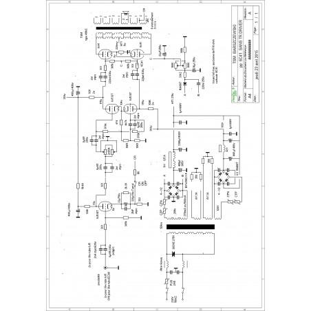 Shéma ampli à tubes puch pull 6c41 - 2x36 watts