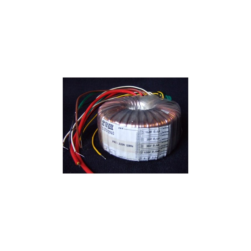 Transformateur torique 168-2x35-120-6volts